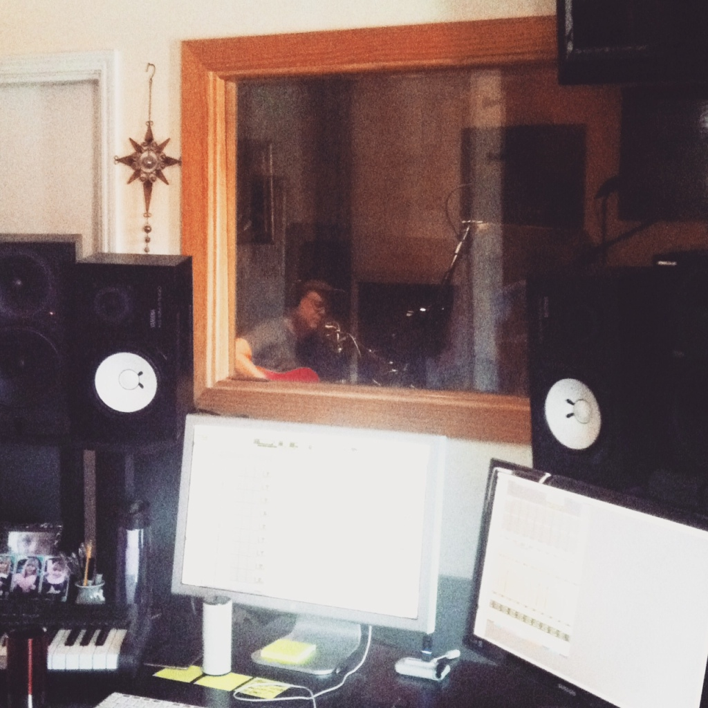 chris in the studio